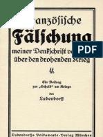 Ludendorff, Erich - Franzoesische Faelschung (1919, 23 S., Scan, Fraktur)