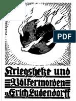 Ludendorff, Erich - Kriegshetze Und Voelkermorden in Den Letzten 150 Jahren (1935-1999, 188 S., Scan-Text, Fraktur)