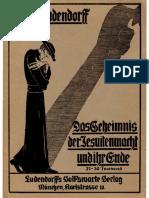 Ludendorff, Erich Und Mathilde - Das Geheimnis Der Jesuitenmacht Und Ihr Ende (1929, 194 S., Scan-Text, Fraktur)