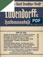 Ludendorffs Halbmonatsschrift - Am Heiligen Quell Deutscher Kraft (1934 - Folge 11, 48 S., Scan, Fraktur)