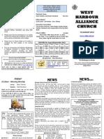 Church Newsletter - 19 August 2012