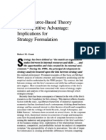 Grant- Resource Based Theory