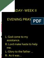 Evening Prayer II