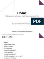 UMAT Information Session 2012