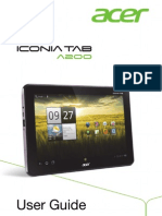 User Manual Acer ICONIA TAB A200