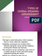 Types of Choral Speaking Arrangement