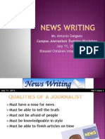 News Writing - BCIS Campus Journalism Training-Workshop 2012
