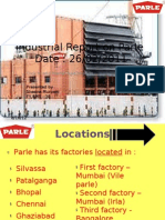Industrial Report on Parle –g