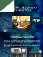 20.- Historía del Consejo de Ministros