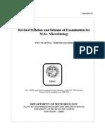 Msc Microbiology