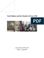 Yrjö Kallinen and the Finnish Civil War 1918