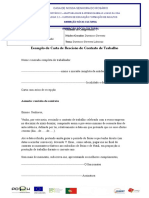 Exemplo de Carta de Rescisão de Contrato de Trabalho