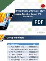The Initial Public Offering of BIDV