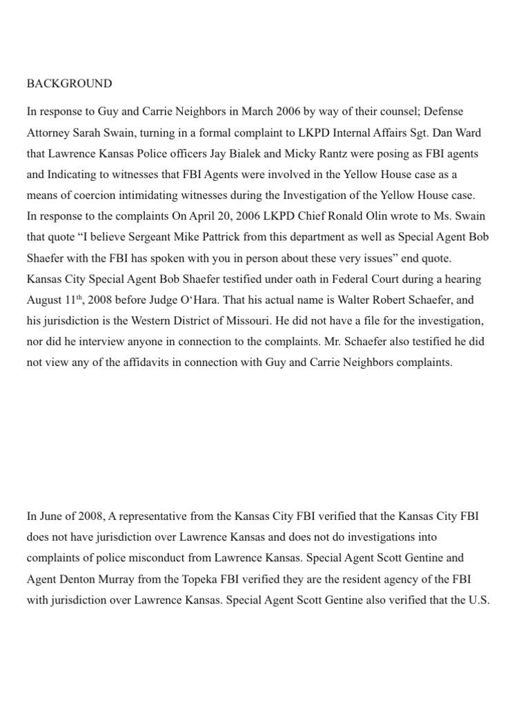 Vindictive prosecution Marietta Parker and Terra D Morehead, Eric Melgren of Kansas