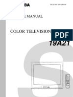3521009 Toshiba TV Service Manual CF19A21