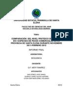 Proyecto de Determinacion de Proteinas en Peces Comerciales