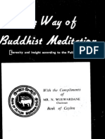 The Way of Buddhist Meditation