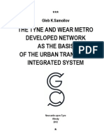 Samoilov G.K. THE TYNE AND WEAR METRO DEVELOPED NETWORK AS THE BASIS OF THE URBAN TRANSPORT INTEGRATED SYSTEM