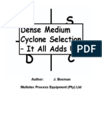 Dense Medium Cyclone Selection - It All Adds Up
