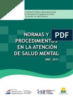 Manual de Normas y Procedimientos de Salud Mental