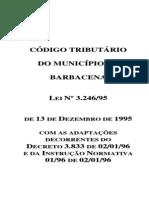 CÓDIGO TRIBUTÁRIO DO MUNICÍPIO DE BARBACENA
