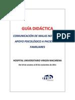 TALLER SOBRE COMUNICACIÓN DE MALAS NOTICIAS Y APOYO PSICOLÓGICO A PACIENTES Y FAMILIARES