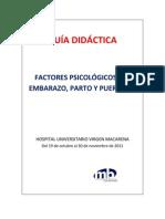 TALLER SOBRE LOS FACTORES PSICOLÓGICOS DEL EMBARAZO, PARTO Y PUERPERIO
