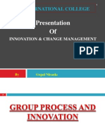 Group Process and Innovation