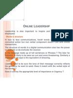 24. Online Leadership