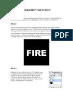 Make photo shop Fire Effect