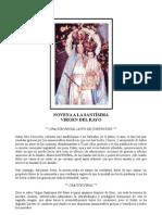 Novena Virgen del Rayo