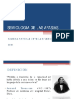 Semiologia de Las Afasias