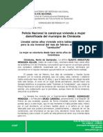 COMUNICADO DE PRENSA Nº 213 Policia Nacional construye vivienda para mujer damnificada en el municipio de Chinacota