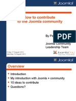 How to contribute to the Joomla community