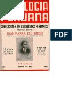 JUAN PARRA DEL RIEGO  - ANTOLOGIA PERUANA
