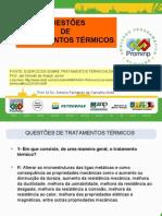 QUESTÕES DE TRATAMENTOS TÉRMICOS