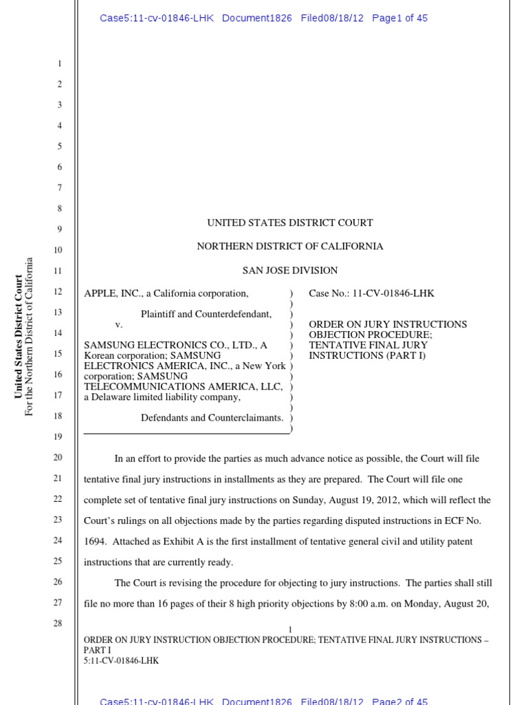 Jury Instructions Order Evidence Law Witness