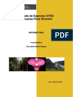Listado de Especies Cites Peruanas de Flora Silvestre