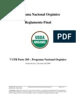 Programa Nacional Organico USDA