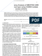 Spectral Efficiency Analysis of MBOFDM UWB channel physical layer using ChDMA multiple access scheme
