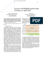 Effect of Fast Recovery with Multiple packet drops of TCP Reno in Mesh NoC
