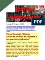 Noticias Uruguayas Domingo 19 de Agosto Del 2012