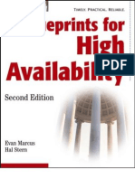 Blueprints for High Availability - Evan Marcus & Hal Stern