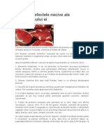 Carnea Si Efectele Nocive Ale Consumului Ei