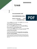 T216 2009 Exam Paper