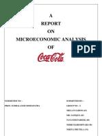 Micro Economic Analysis of Coca Cola