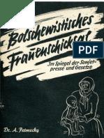 Petmecky, A. - Bolschewistisches Frauenschicksal (1941, 48 S., Scan-Text)