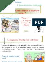 Thème 111 - Les analyses théoriques des classes