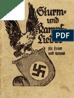 Propaganda-Verlag Paul Hochmuth - Sturm Und Kampflieder Fuer Front Und Heimat (1941, 132 S., Scan, Fraktur)