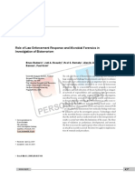 Role of Law Enforcement Response and Microbial Forensics in Investigation of Bioterrorism